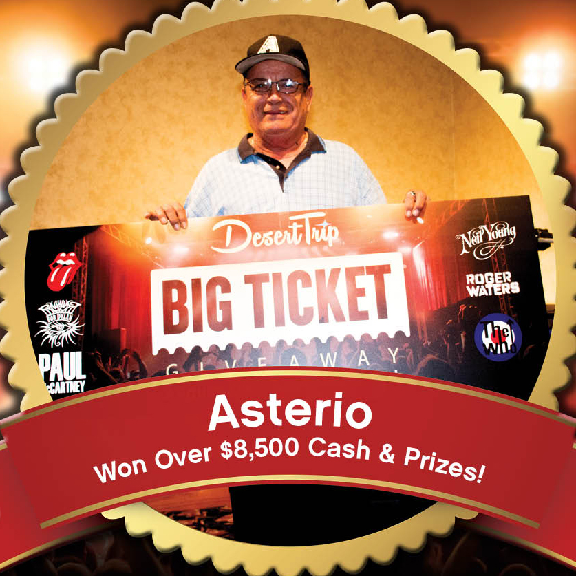 Asterio Won over $8,500